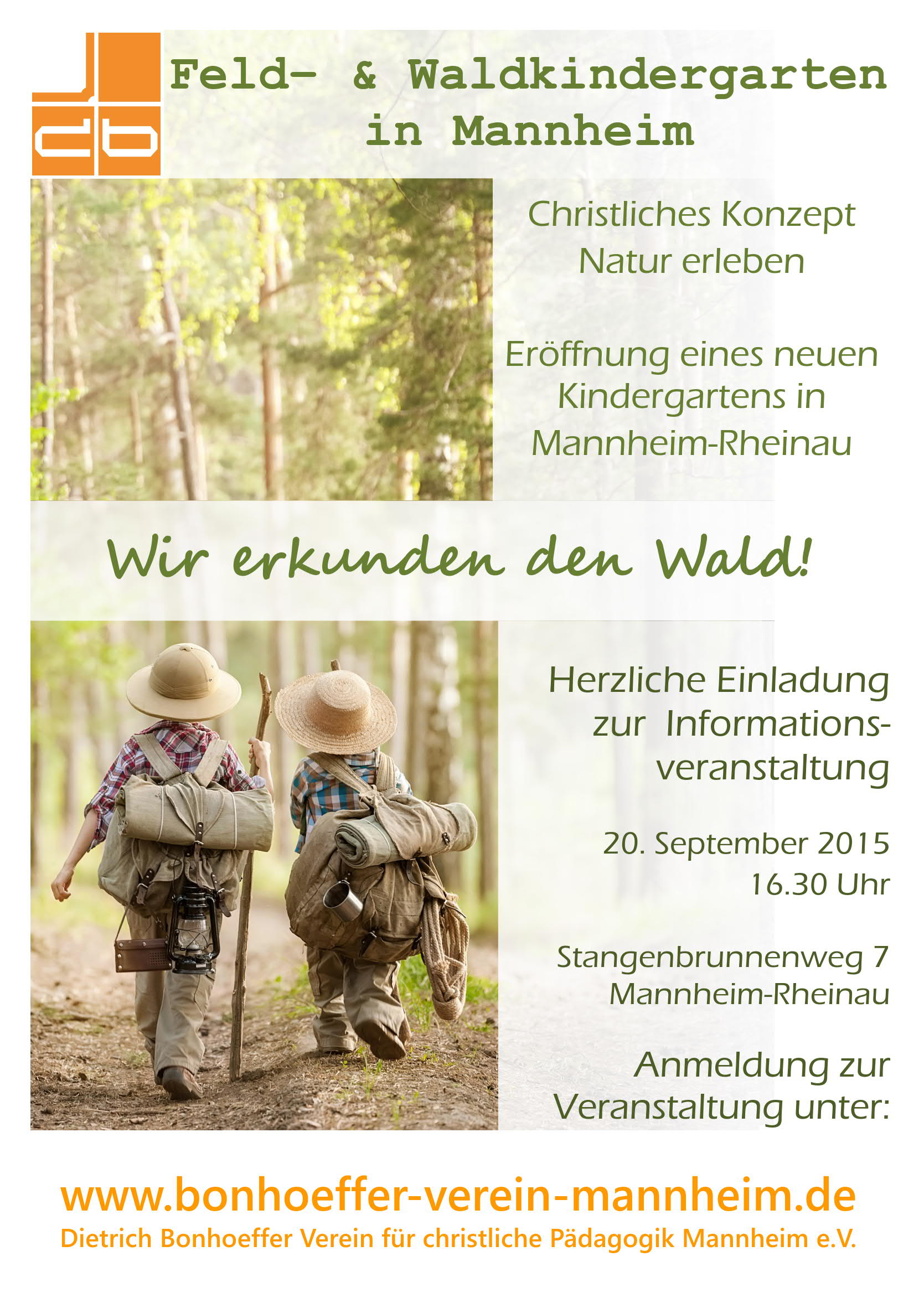 Poster Waldkindergarten