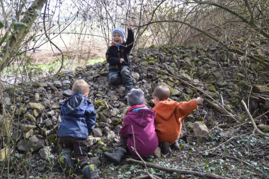 Rast am Steinbruch
